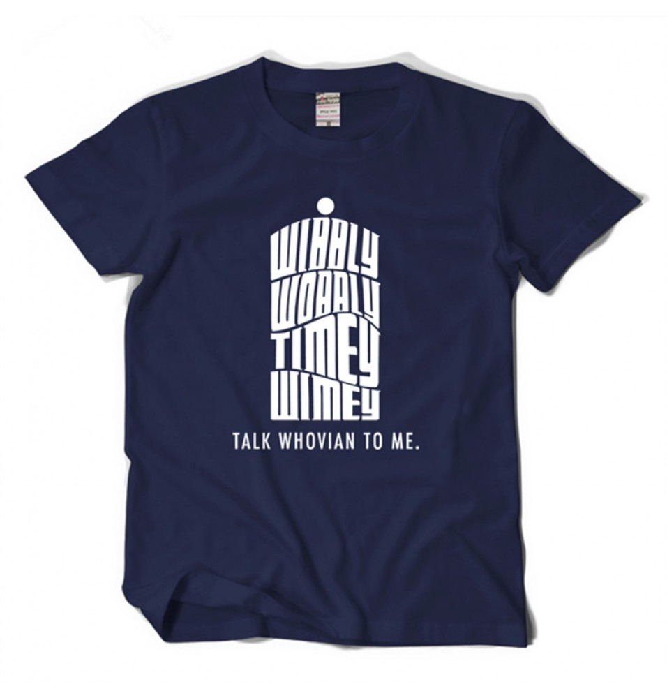Timecosplay Doctor Who Talk Whovian To Me Tee Shirt