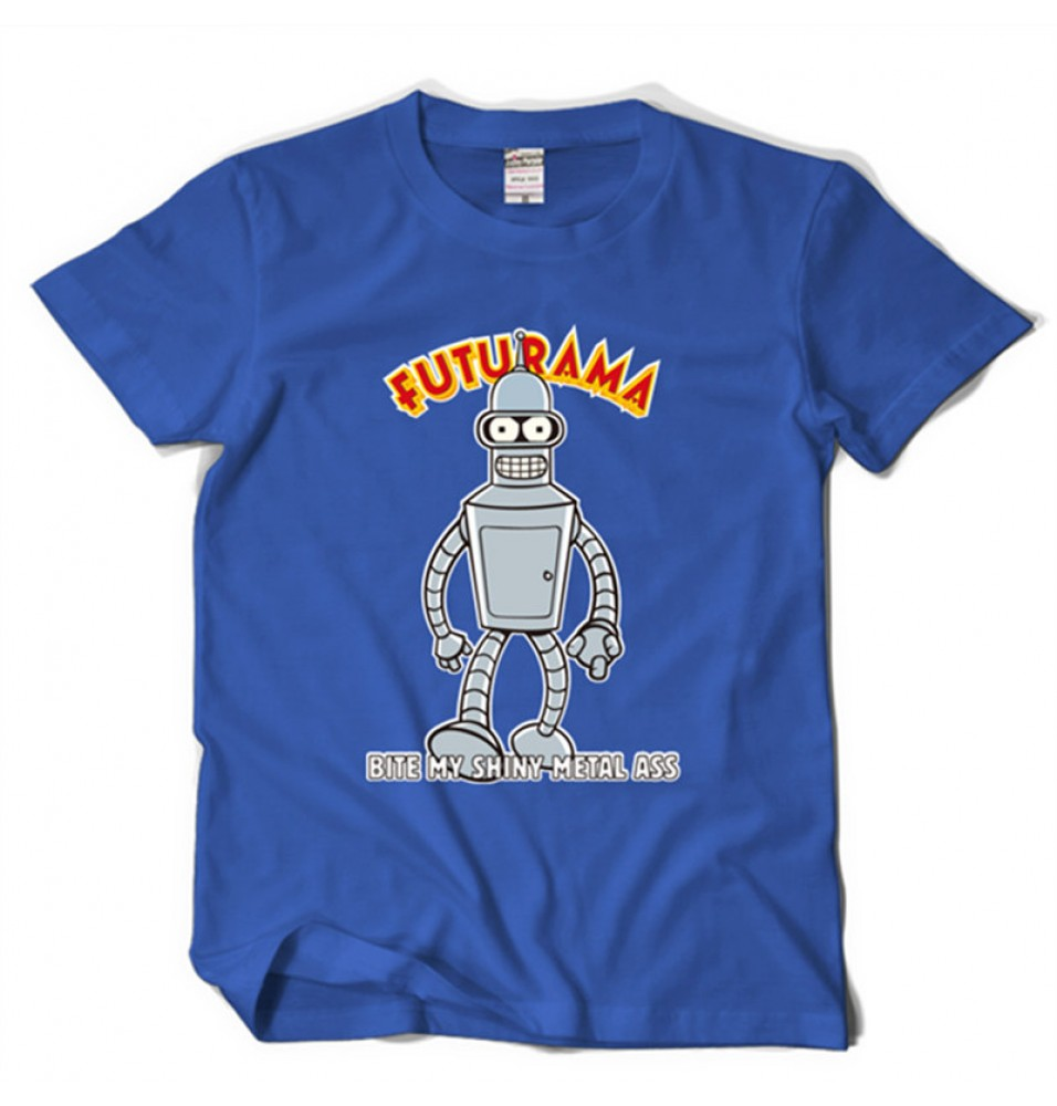 Timecosplay Futurama Bender Icon Short Sleeve Tee Shirts