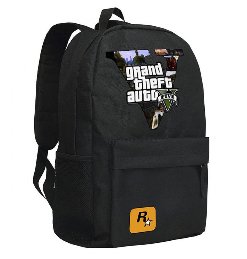 Timecosplay Grand Theft Auto 5 Backpack Schoolbag Cool Bag
