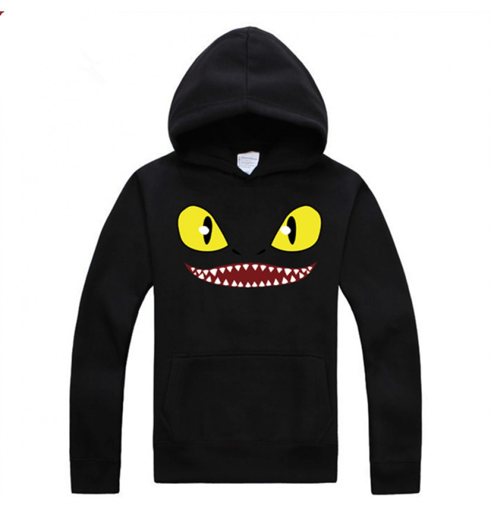 TimeCosplay How To Train Your Dragon Night Fury Logo Pullover Hoodie