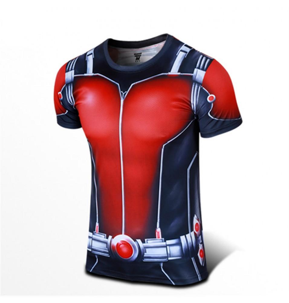 Timecosplay Marvel Superhero Ant Man Sport Tight TopsTee Shirt