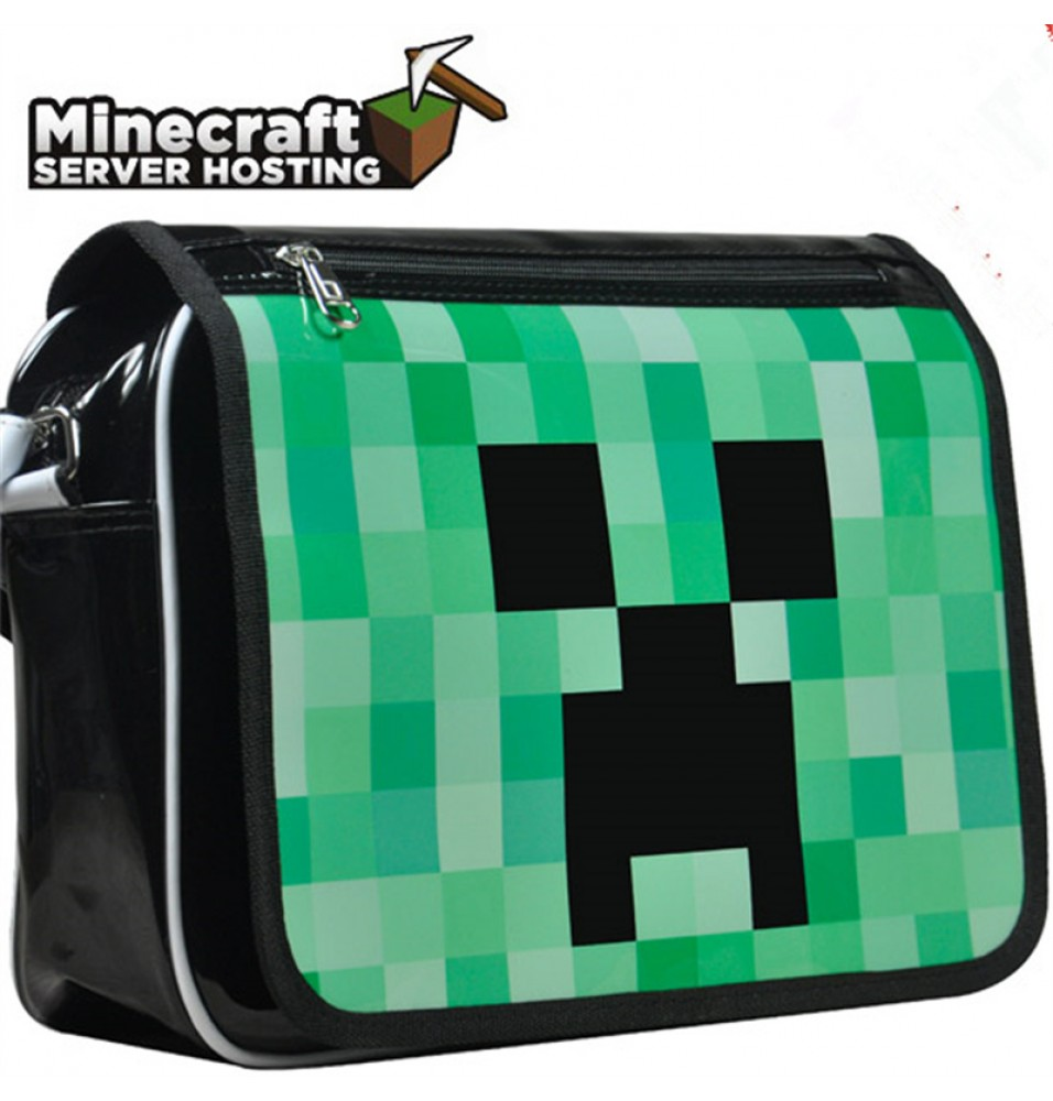Timecosplay Minecraft Creeper Cosplay Backpack Messenger Bag