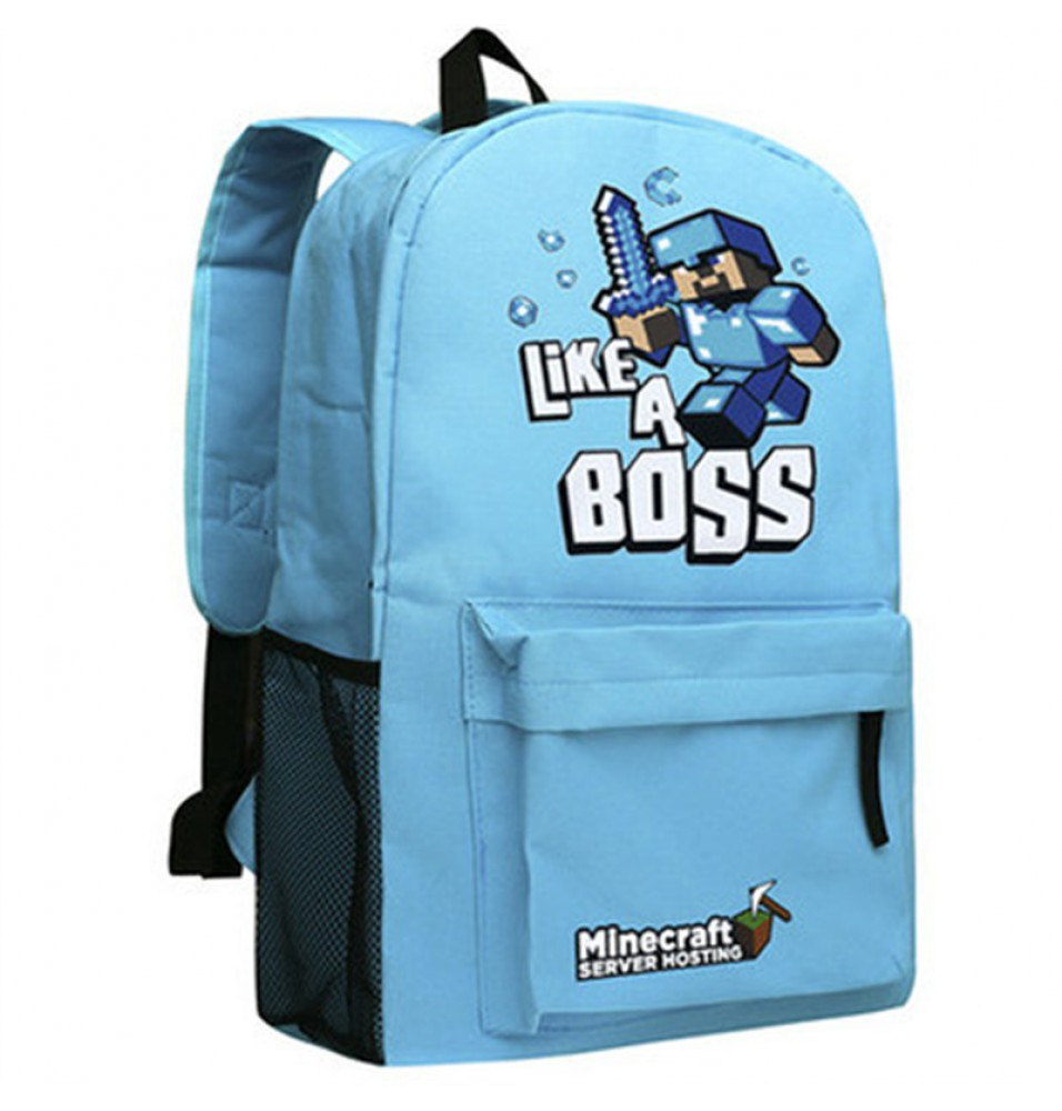 Timecosplay Minecraft Creeper Like a boss School bag Backpack