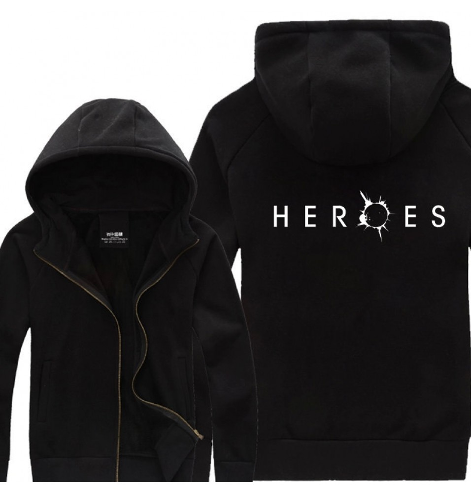 TimeCosplay NBC TV Show HEROES Zipper Hoodie Jacket