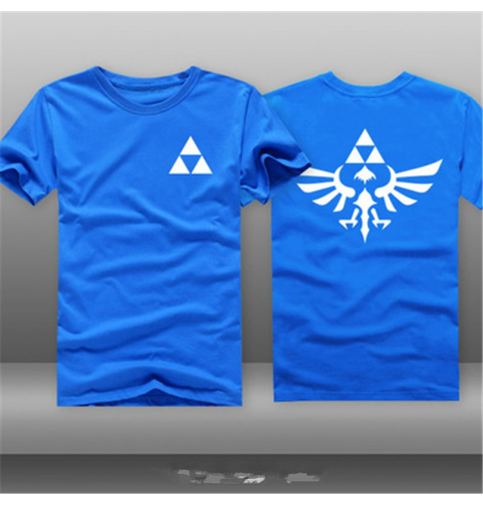 Timecosplay Nintendo The Legend of Zelda A Link to the Past Logo Men Short Sleeve Game Tee Shirt
