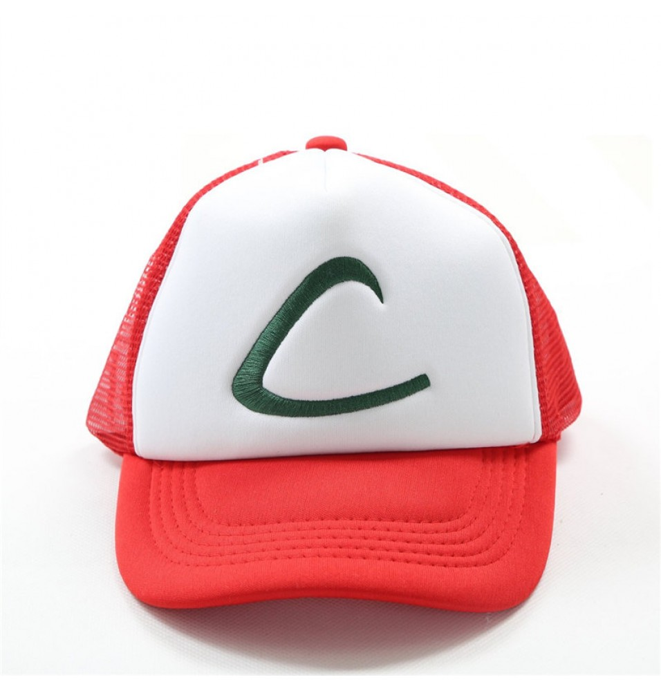 Timecosplay Pokemon Go Ash Ketchum Cosplay Cartoon Hat Mesh Cap