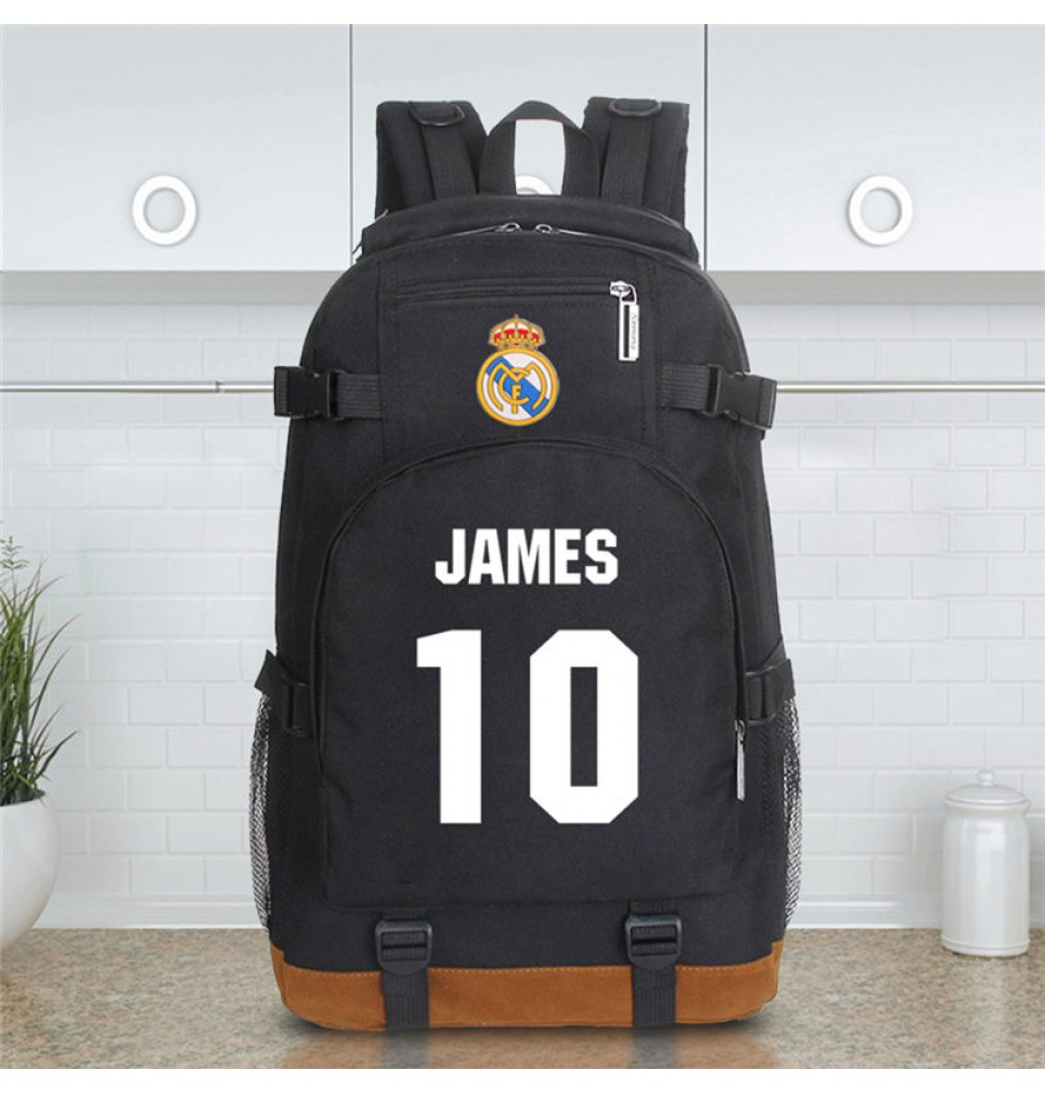 Timecosplay Real Madrid James Rodriguez 10 Schoolbag Backpack