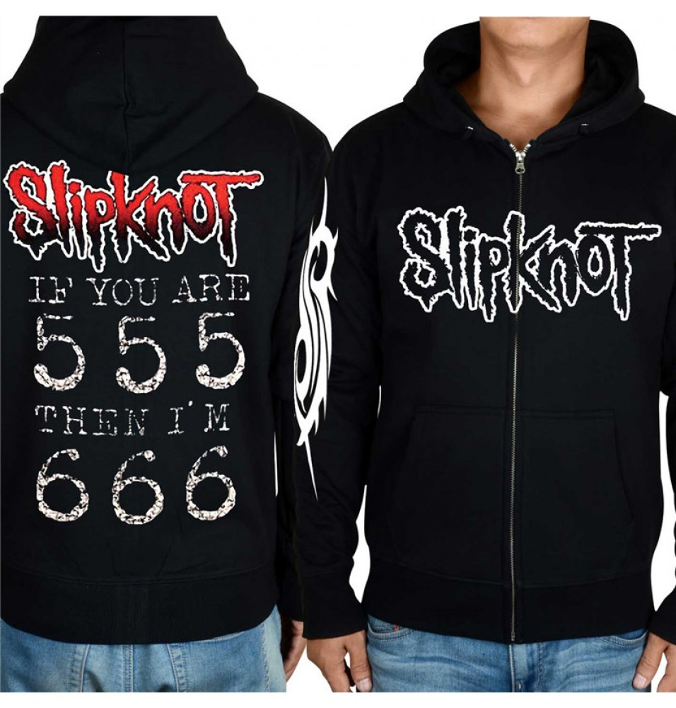Timecosplay Slipknot Rock Style Zip Hoodie