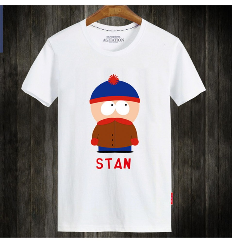 Timecosplay South Park Stan Short Sleeve Tee Shirts