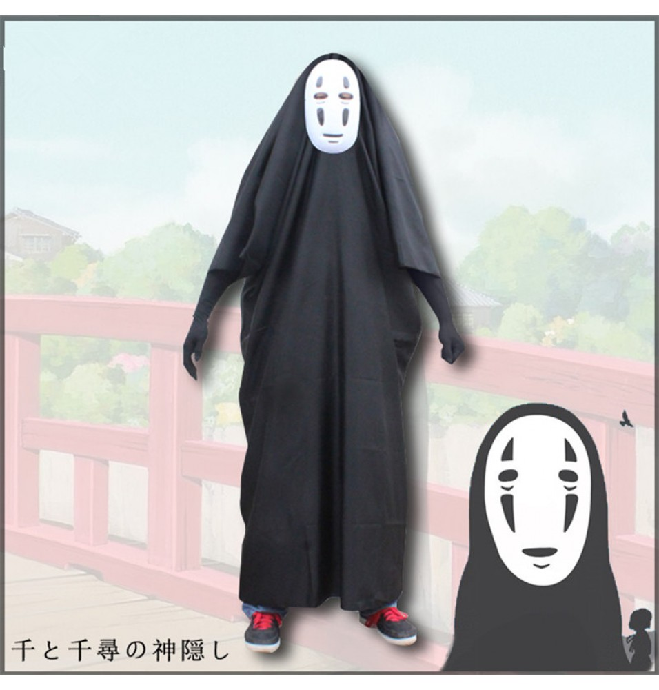 Miyazaki Hayao Spirited Away Cosplay No Face Costume Cosplay Mask