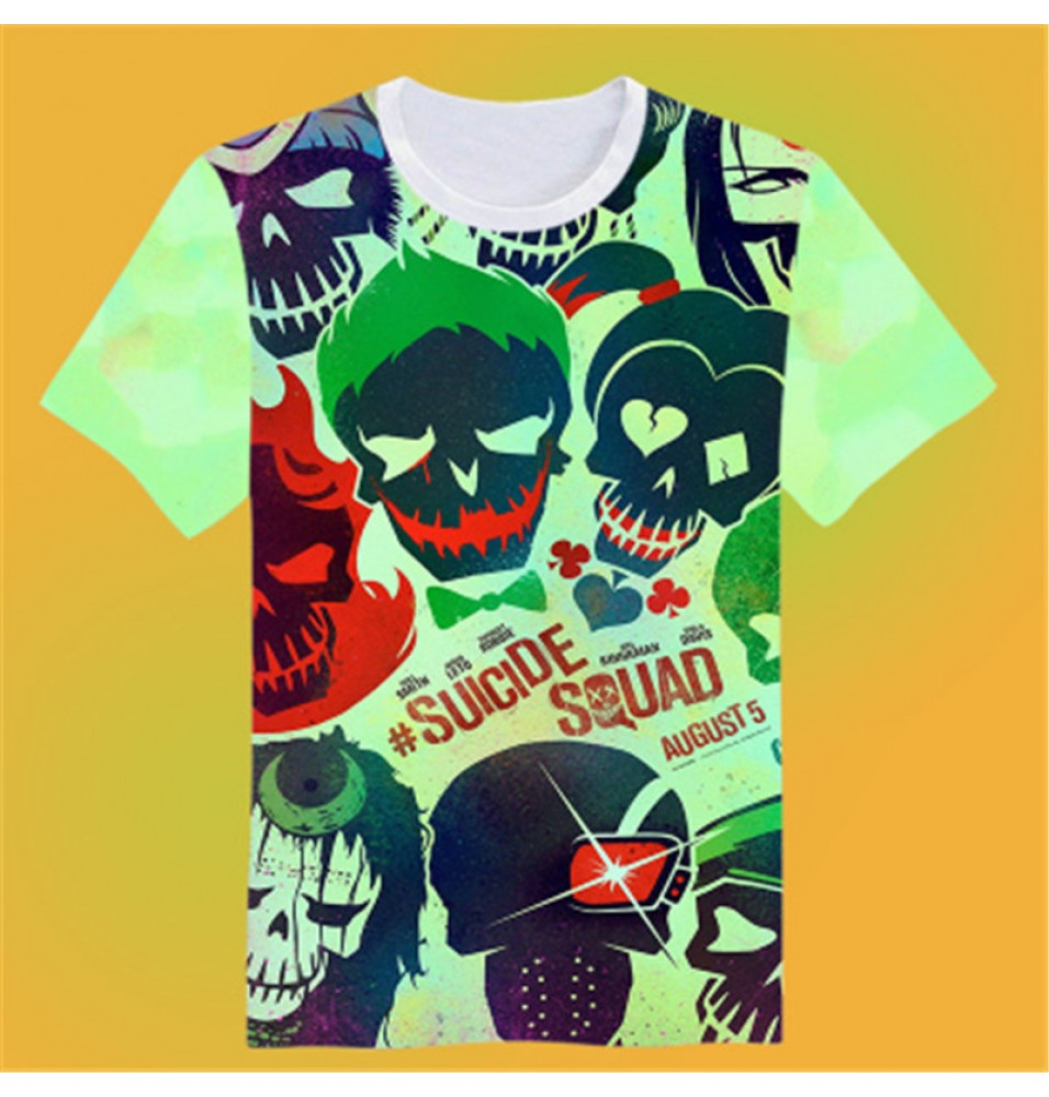 Timecosplay Suicide Squad image3D Print Harajuku Tee Shirts