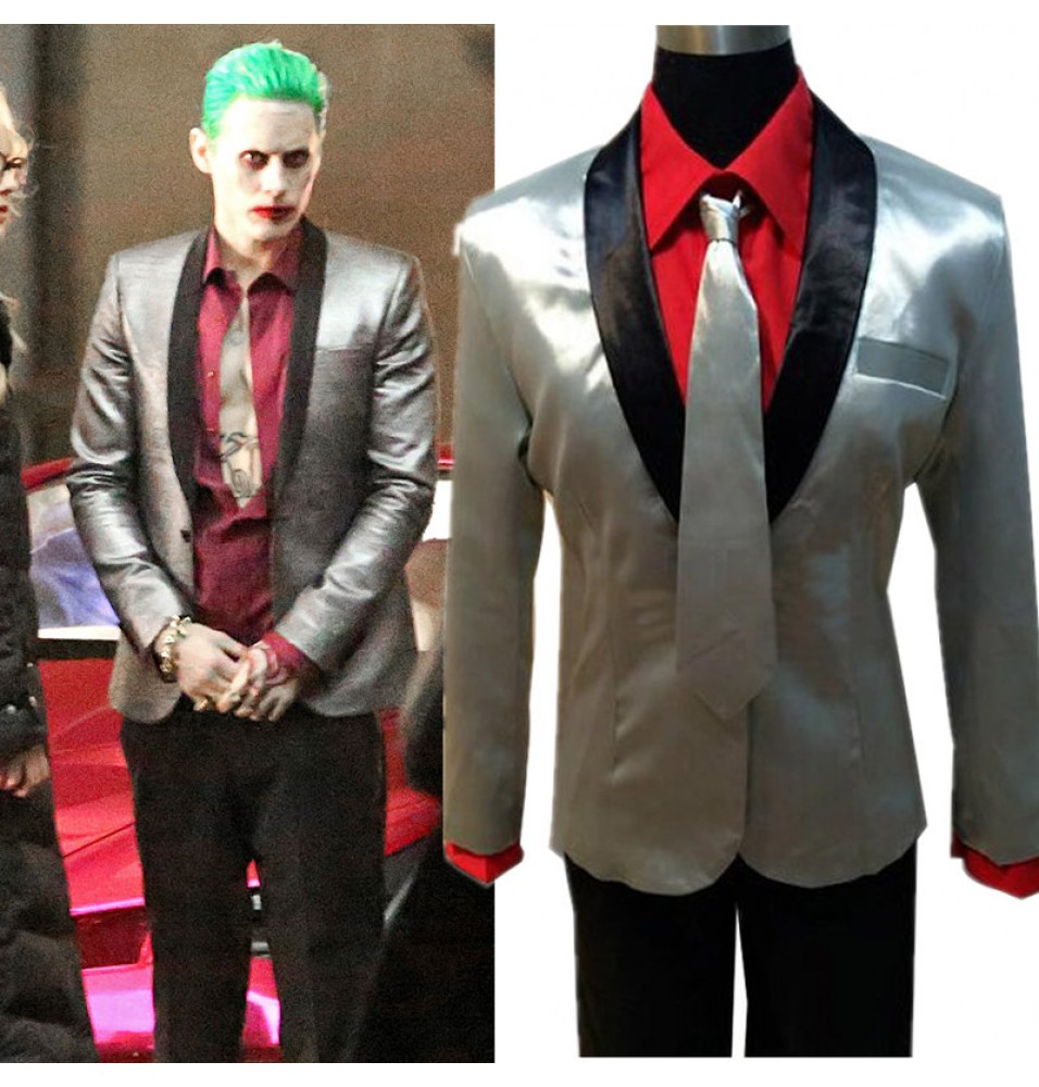 Timecosplay Suicide Squad Jared Leto Batman Joker Suit Cosplay Halloween Outfit Costume