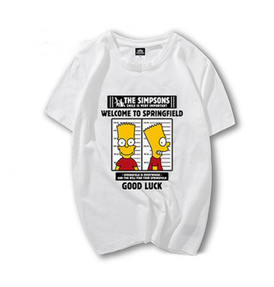 Timecosplay The simpsons Bart Simpson Good Luck Men Tee Shirt