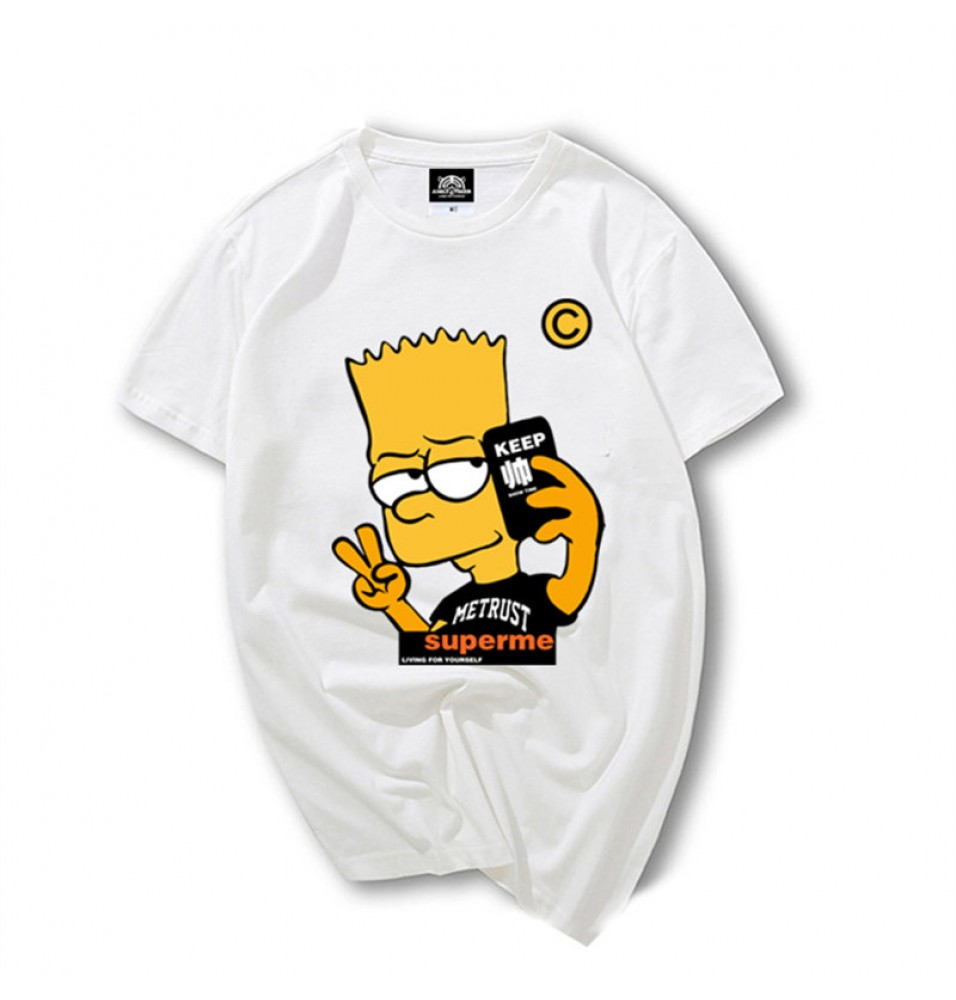 Timecosplay The simpsons Bart Simpson Men Tee Shirt