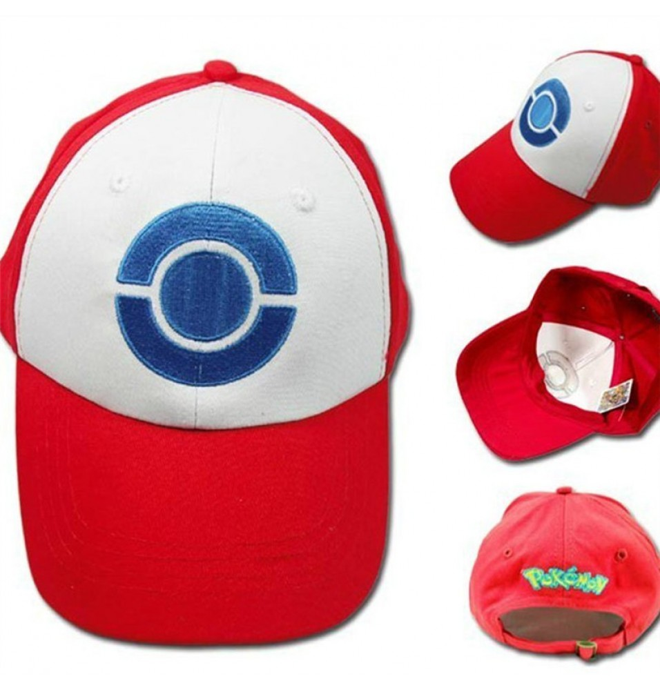 Timecosplay Game Pokemon Ash Hat Ketchum Cosplay Hat Cap