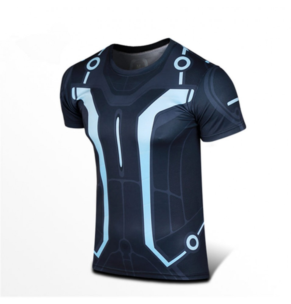 Timecosplay Tron Legacy Garrett Hedlund Cosplay Men's Short T-shirt Costume