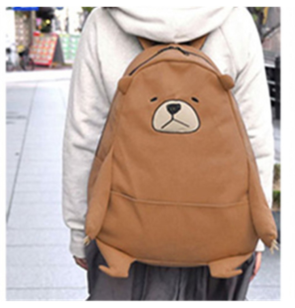 Timecosplay We Bare Bears Grizzly Cosplay Shoulders Bag Schoolbag Backpack