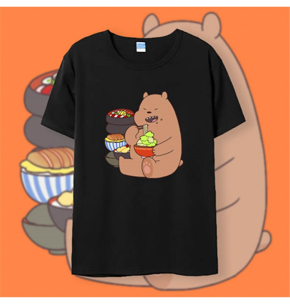 Timecosplay We Bare Bears Grizzly White Tee Shirts