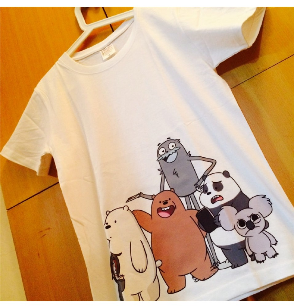 Timecosplay We Bare Bears White Tee Shirts