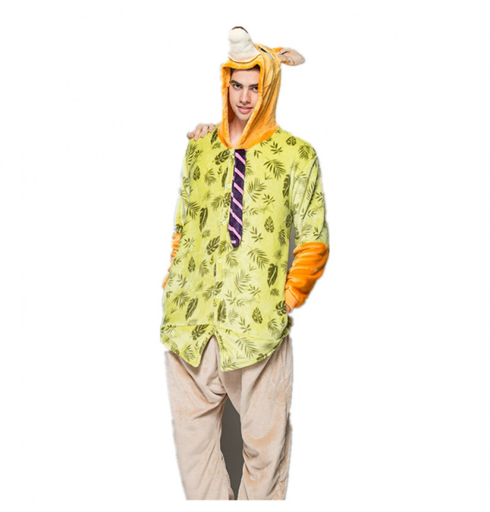 TimeCosplay Zootopia Nick Wilde Cosplay Onesie Pajamas Halloween Animal Kigurumi