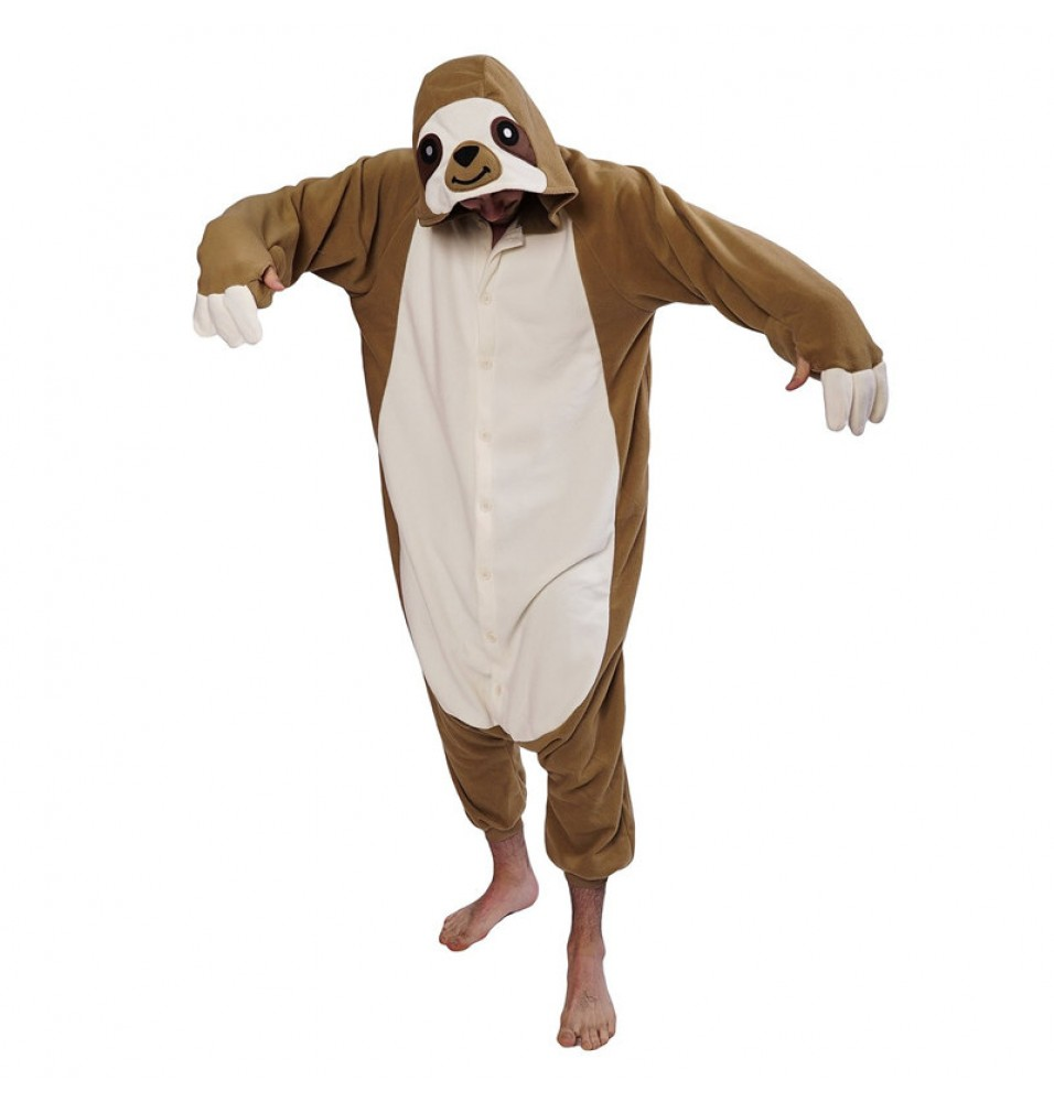 TimeCosplay Zootopia Sloth Animal Cosplay Onesie Pajamas Halloween Kigurumi