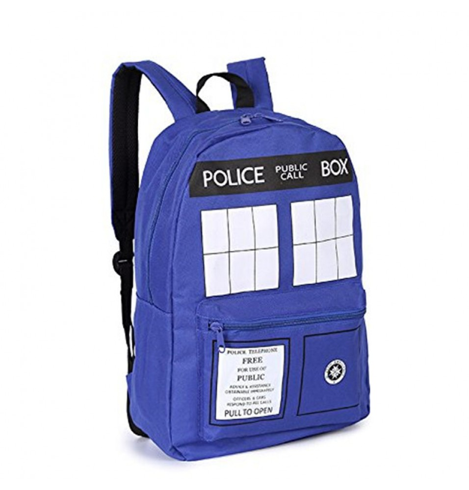TimecosplayDoctor Who Police Box TARDIS Cosplay Fashion Shoulders Bag Schoolbag