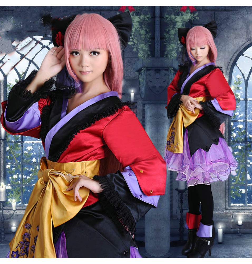VOCALOID 2 Megurine Luka Cosplay Dress Costumes