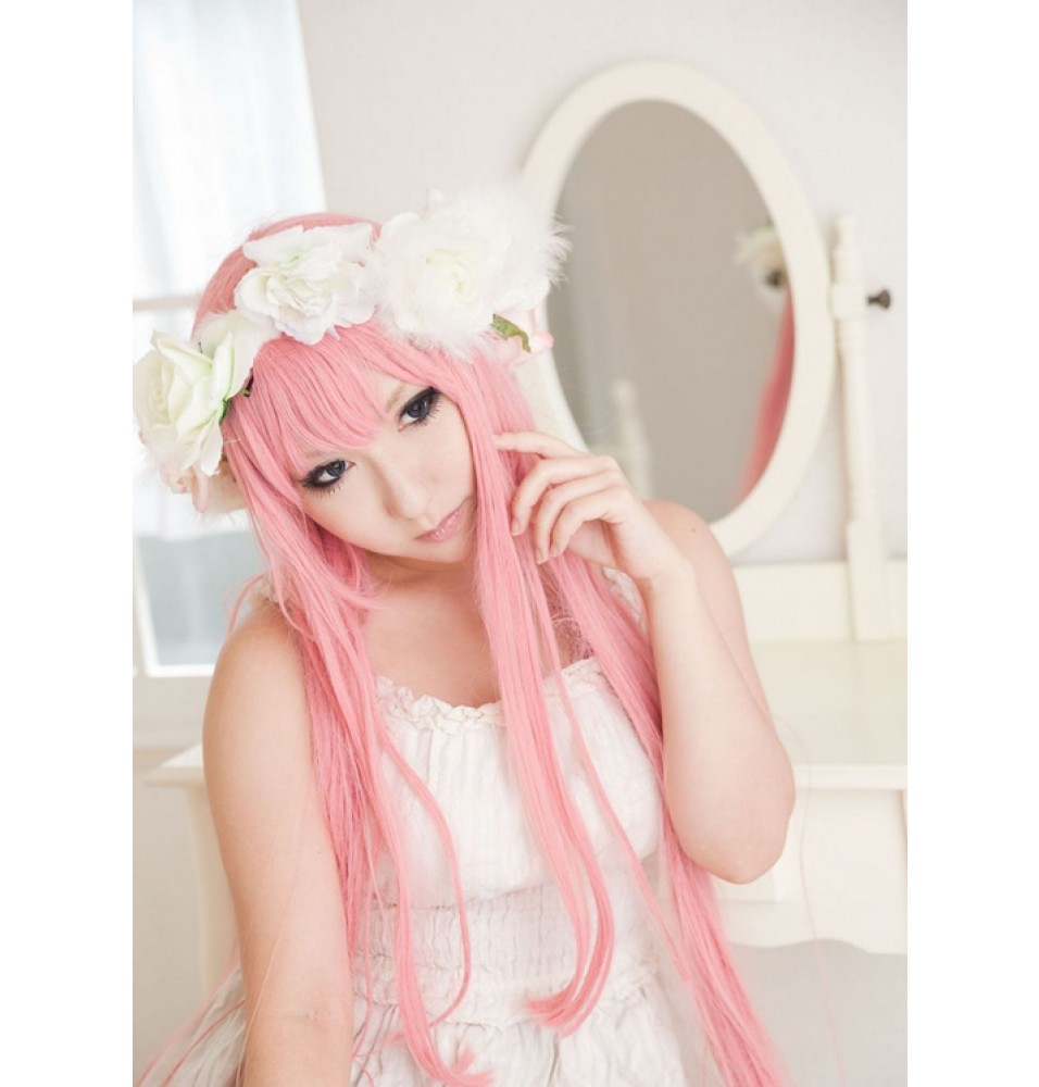 VOCALOID 2 Megurine Luka Cosplay Wigs Long Pink Wigs