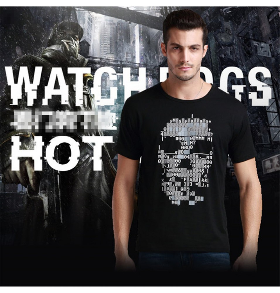 Watch Dogs Logo Men Tee Shirt