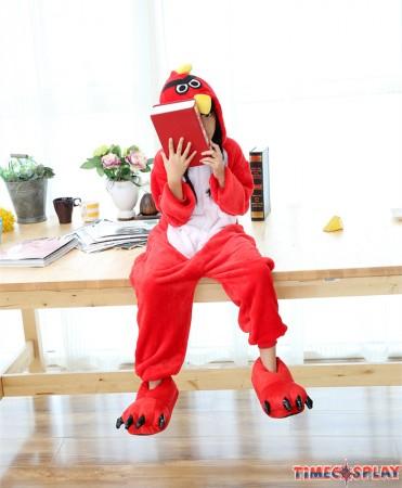 Bird Onesies Pajamas Flannel Children Kigurumi Onesies Winter Animal Pajamas For Kids