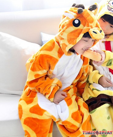 Giraffe Onesies Pajamas Flannel Children Kigurumi Onesies Winter Animal Pajamas For Kids
