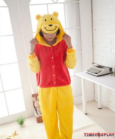 Winnie Pooh Bear Onesies Pajamas Fall Winter Pajamas For Adults