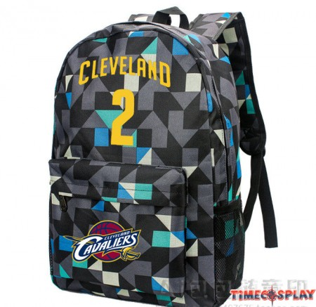 Timecosplay Cleveland Cavaliers Kyrie Irving 2 Logo lattice Backpack School Bag