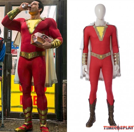 2019 Movie Shazam Costume Billy Batson Cosplay Costume