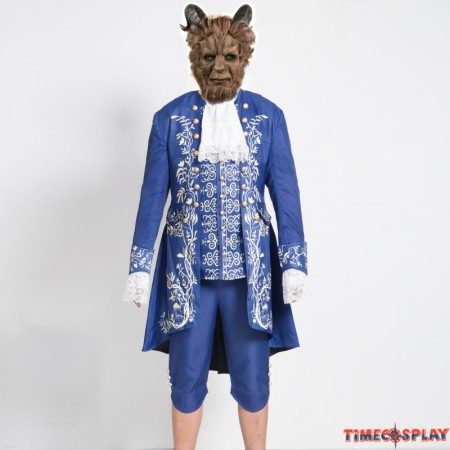 2017 Movie Beauty and the Beast Prince Adam Cosplay Costume Uniform Outfit