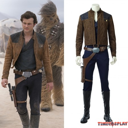 2018 Solo: A Star Wars Story Han Solo Cosplay Costume Deluxe Outfit