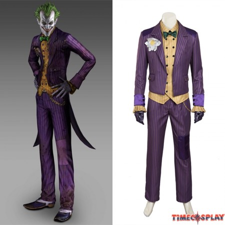 Arkham Asylum Joker Cosplay Costume Suit
