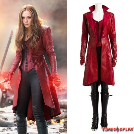 Civil War Scarlet Witch Costume Wanda Maximoff Cosplay Costume