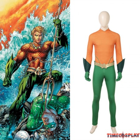 DC Aquaman Arthur Curry Cosplay Costume Jumpsuit