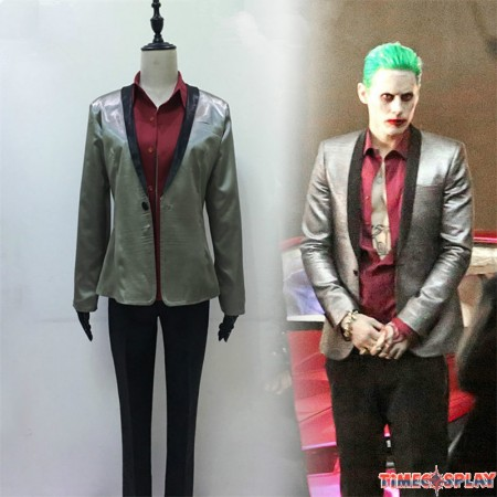 DC 2016 Movie Suicide Squad Joker Cosplay Suit Costume