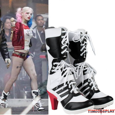DC Comics Suicide Squad Harley Quinn Cosplay Shoes
