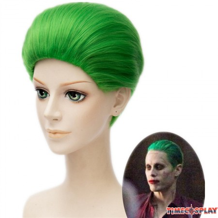 Suicide Squad Joker Clown Jared Leto Green Cosplay Green Short Hair Wigs