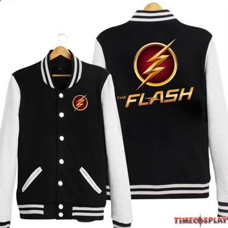 DC The Flash Logo Hoodie Baseball Jacket Overcoat