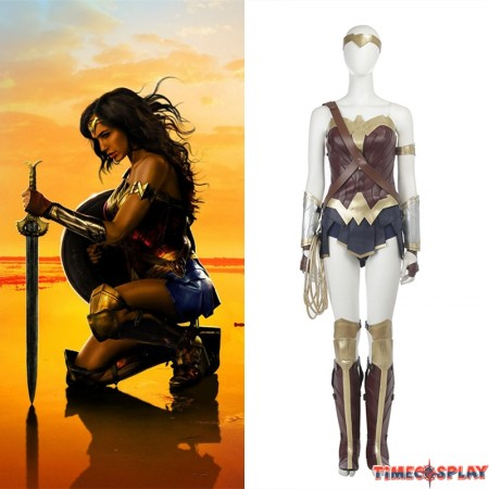 Diana Prince Wonder Woman Costume Cosplay - Deluxe Version
