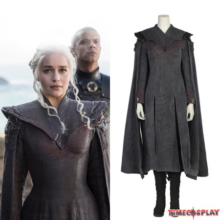 Game Of Thrones 7 Daenerys Targaryen Cosplay Costume Deluxe Version