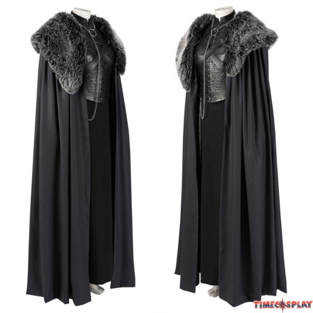 Game of Thrones 8 Sansa Stark Cosplay Costume Deluxe