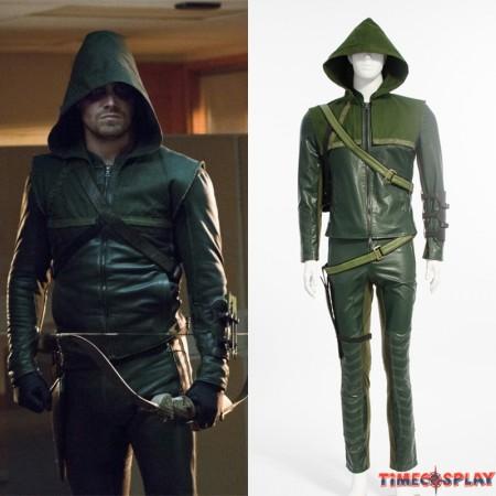 Green Arrow Season 2 Oliver Queen Cosplay Costume