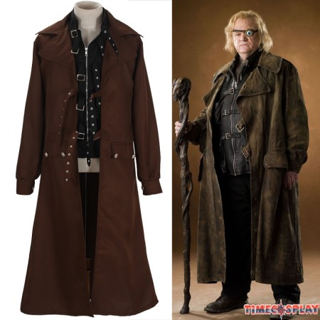 Harry Potter Cosplay Alastor Moody Mad-Eye Trench Coat Costume
