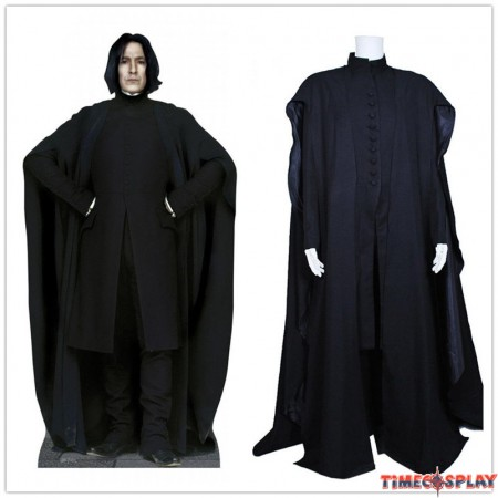 Harry Potter Cosplay Severus Snape Coat Costume Black