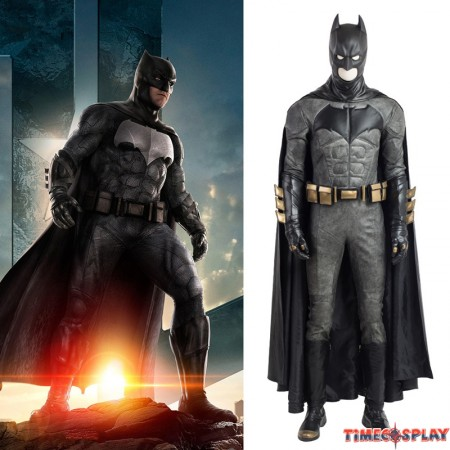 Justice League Batman Costume Deluxe Cosplay Outfit